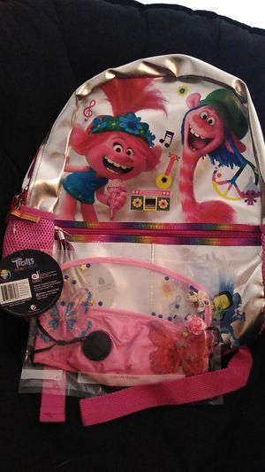 Trolls back pack girls homemade face mask for Sale in Las Vegas, NV