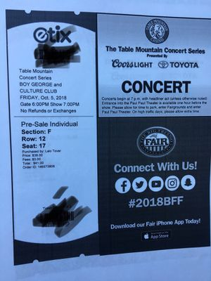 Boy George tickets for Sale in Sanger, CA