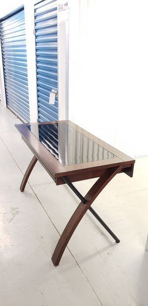 Wood Tinted Glass Top Desk for Sale in Washington, DC