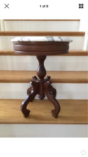 Antique Marble Top Table plant stand for Sale in Nashville, TN