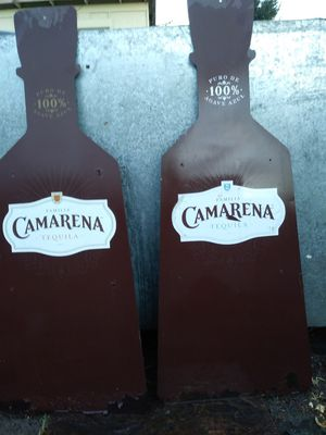 Signs , bottle shape ,. Great for garage or mancave or yard deco. for Sale in Modesto, CA