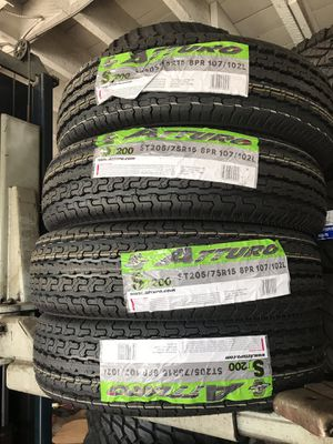 ST205/75R15 SET OF 4 TRAILER TIRES for Sale in Stockton, CA