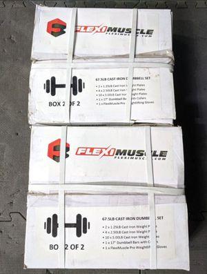 135lb Adjustable Dumbbells Set - NEW! for Sale in Tacoma, WA