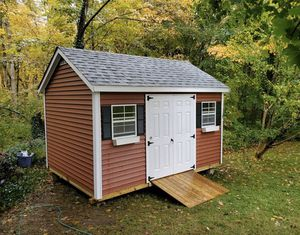 New 10' x 14' x 7' Chateau Barn Red Vinyl Shed with XL Windows for Sale in Rehoboth, MA