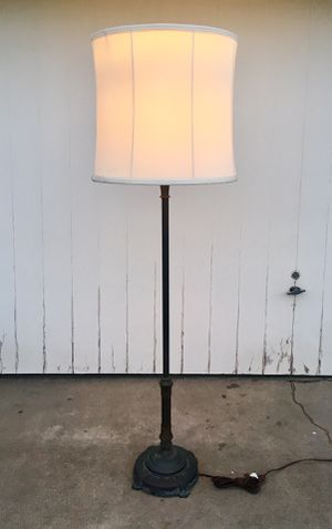 Art Deco Era Detailed, Sturdy American Floor Lamp WITH Shade for Sale in Huntington Beach, CA