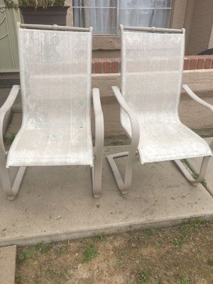 Free patio chairs (2) for Sale in Phoenix, AZ