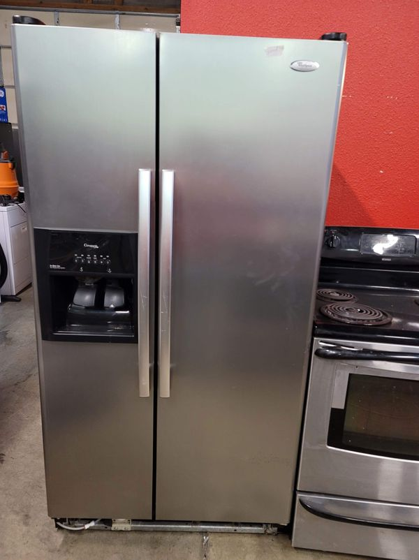 stainless steel appliances set fridge stove dishwasher microwave all good working conditions set for $499