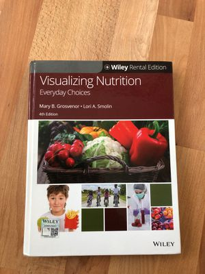 Visualizing Nutrition (Wiley textbook) ISBN 13 978-1119-39553-9 for Sale in Fremont, CA