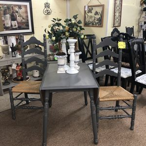 Gray 3 Piece Drop Leaf Table Set for Sale in Snellville, GA