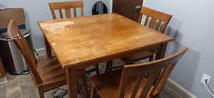 FREE !!! Wooden table with chairs. for Sale in Malden, MA