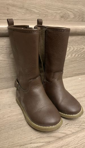 Toddler size 7 girls tall zipper boots for Sale in Concord, CA
