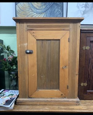 Antique Vintage Wood Cabinet for Sale in Los Angeles, CA