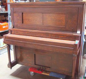Beckwith Concert Grand Piano with Stool - Player Piano with Full Box of Musical Rolls / Works! for Sale in Chula Vista, CA