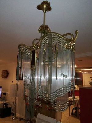 Beautiful Antique chandelier Art Nouveau Hector Guimard for Sale in IND CRK VLG, FL