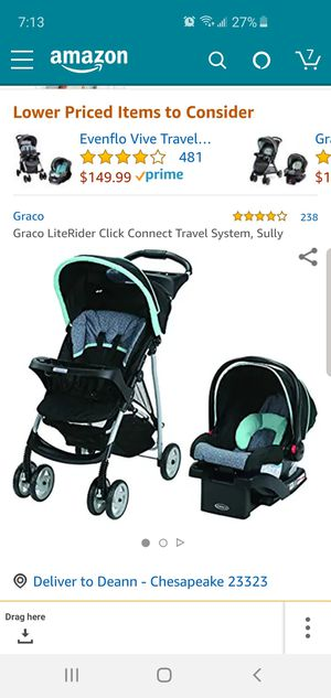 Graco stroller and carseat (doesn't have base to the carseat) for Sale in South Norfolk, VA