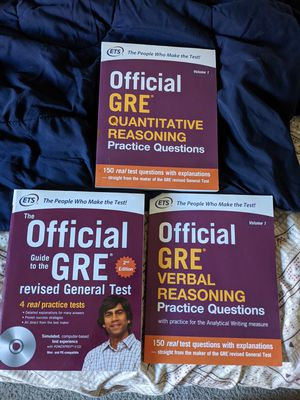 GRE books second edition for $35 for Sale in Fremont, CA