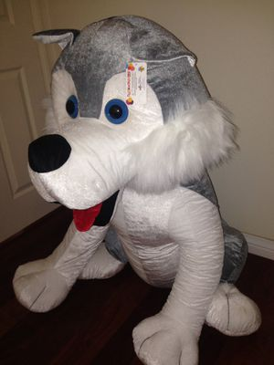 GIANT 4 foot Husky stuffed animal plush toy for Sale in Thousand Oaks, CA