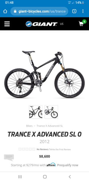 2012 giant trance x advanced sl0 size small for Sale in San Gabriel, CA