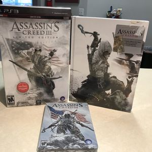 PS3 Assassin's Creed III, and More! for Sale in Kissimmee, FL