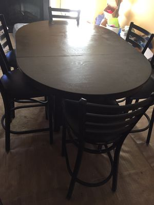 Breakfast table 6 chairs high level for Sale in Fairburn, GA