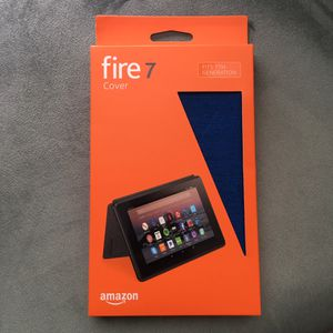 Amazon fire tablet 7 case blue for Sale in Silver Spring, MD