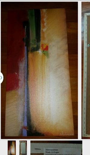 Noah Li Leger Metropolitan on canvas 12x24 for local pick up Chicago, NWI. Retails $95+ for Sale in Chicago, IL