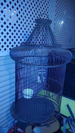 Big ass steel bird cage for Sale in San Dimas, CA