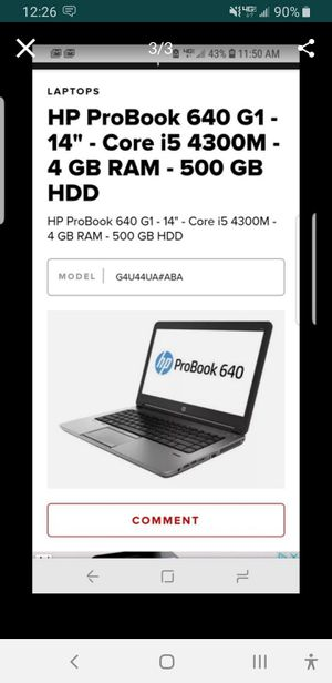 HP LAPTOP EXELENT FAST LITTLE BIG HELP for Sale in San Dimas, CA