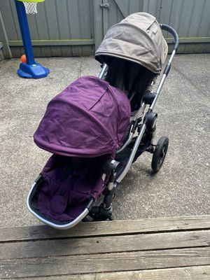 Baby jogger city select double stroller with Britax attachment for Sale in Ferndale, WA