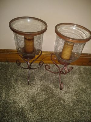 Set of 2 candle holders for Sale in Broadview Heights, OH