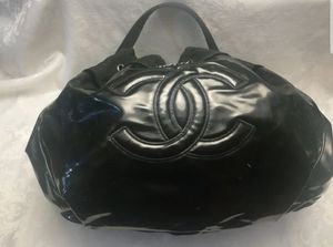 AUTHENTIC CHANEL Black Patent Vinyl Stretch Spirit Extra Large Cabas Bag for Sale in Aurora, CO