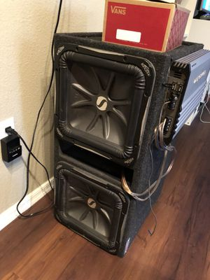 2 boxed kicker L7 12's TRADE FOR PS4 PRO w/ 3000w Lightning audio amp for Sale in Phoenix, AZ