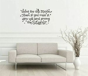 Shoot for the Moon Bedroom Removable Wall Decal for Sale in San Antonio, TX