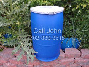 30 Gallon FOOD GRADE Removable Top Barrels for Sale in Las Vegas, NV