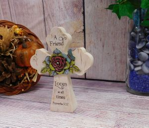 """""""A Friend..."""" Proverb Porcelain Cross - Approx 6 inches tall for Sale in Lodi, CA"""