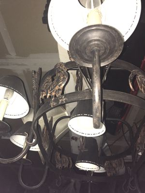 Large Beautiful Pot Rack and Chandelier Lamps Plus for Sale in Byron, CA