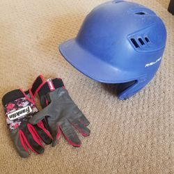 Rawlings Baseball Batting Helmet And Franklin Size Youth Small Batting Gloves for Sale in Renton,  WA