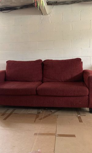 Red Full sized sofa for Sale in Pittsburgh, PA