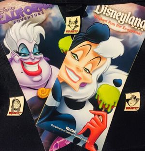 Disney Villains Wanted Poster Pins plus Maps for Sale in Riverside, CA
