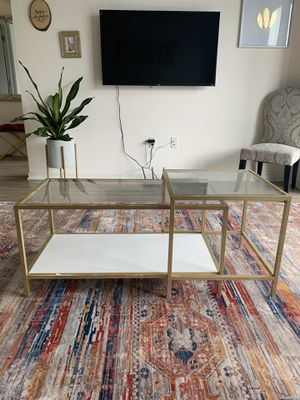 IKEA VITTSJO - Tall shelf, nesting tables (coffee and side table) and laptop desk for Sale in Chicago, IL