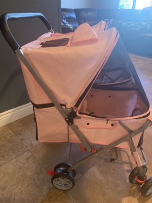 Foldable Double Dog Stroller- Fits 2 small med dogs or cats. for Sale in Vista, CA