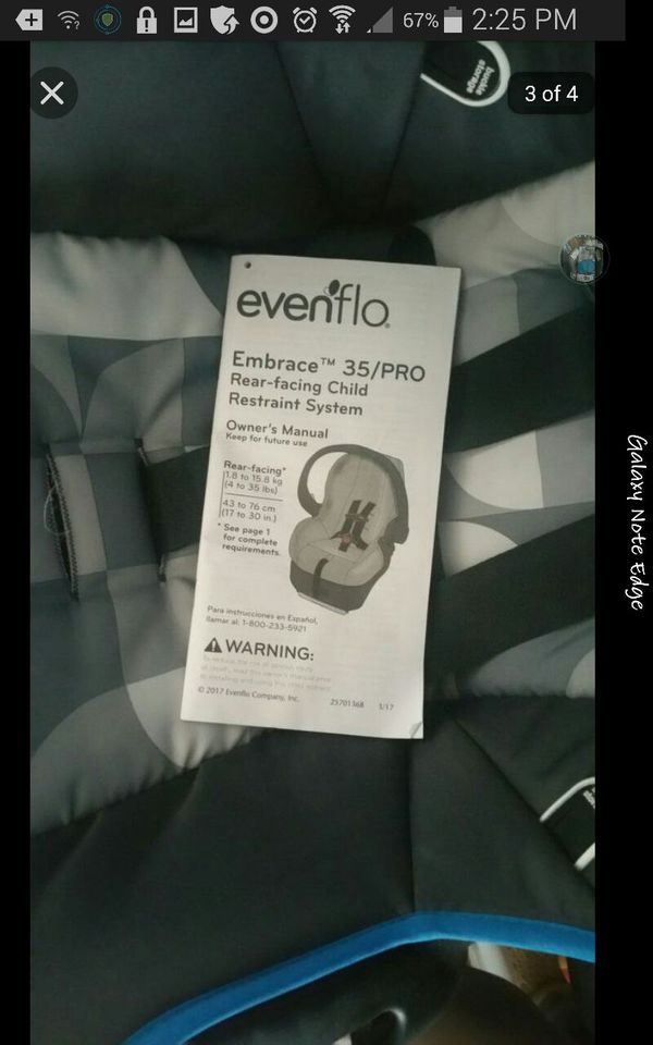 Evenflow car seat