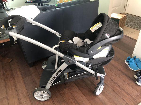 CHICCO CAR SEAT & BRAVO FOR 2 STROLLER