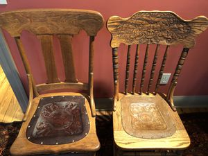 Chairs-Antique Oak for Sale in Austin, TX