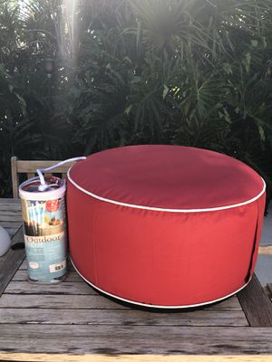 Outdoor Inflatable Canvas Pouf for Pool or Patio for Sale in Seattle, WA