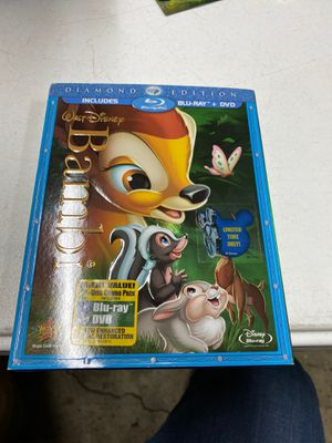 Bambi blue ray dvd diamond edition for Sale in Westminster, CA