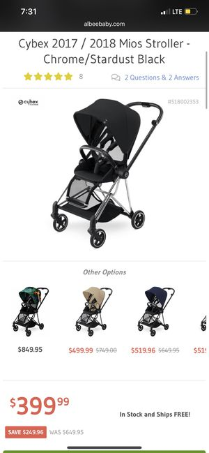 Cybex Mios with seat pack for Sale in San Jose, CA