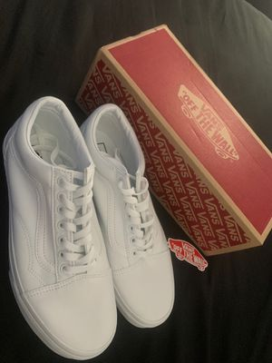 """Vans """"off the wall"""" (All White) for Sale in Cypress, TX"""