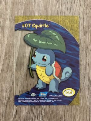 Rare Pokemon Topps Trading Card Clear Plastic PC4 Squirtle #07 Acetate for Sale in Davenport, FL