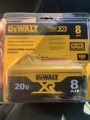 XR 20-Volt Max 8 Amp-Hour Lithium Power Tool Battery for Sale in Lanham, MD